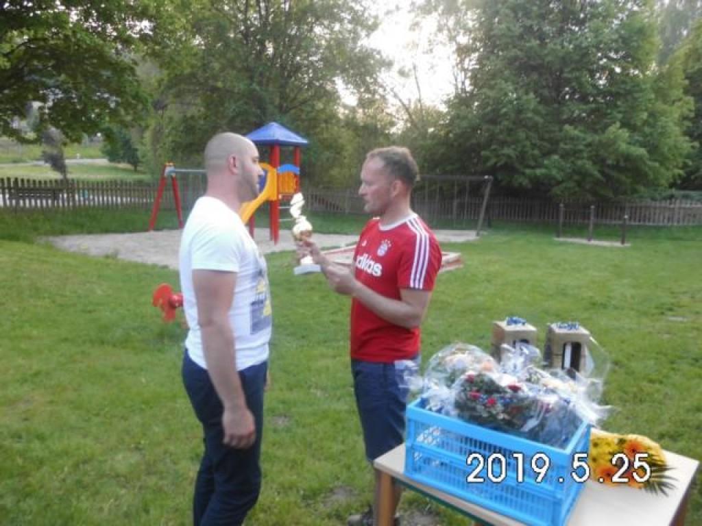 Torschützenkönig Andy Behlau (links) mit 49 Toren