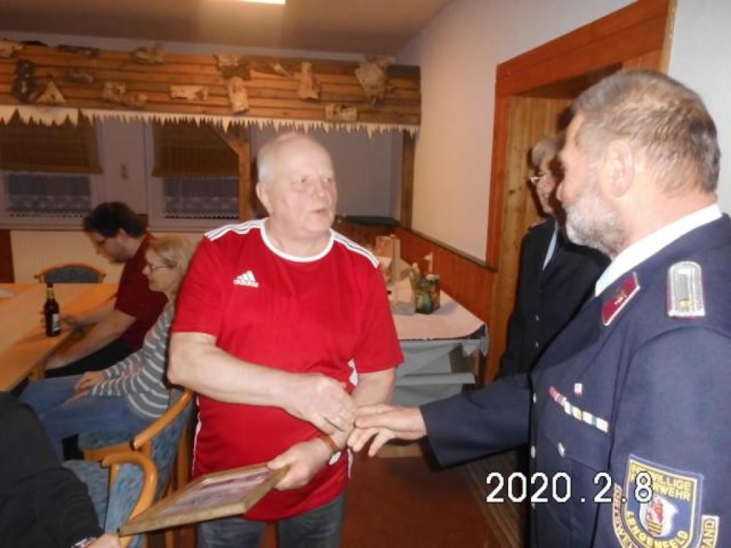 Günther Sieber mit dem Jubilar