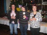 Preisträger im Mini-Torschießen: Isabel Artmann, Denise Beinbrecht, Kerstin Gruschwitz