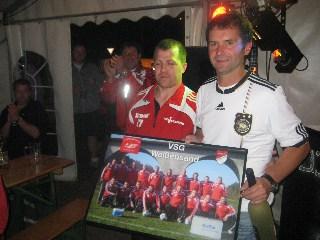 Ehrung für das vergangene Spieljahr: Trainer Sven Hoppe