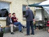 Der Chronist mit Jürgen und Hans-Jörg im Gespräch
