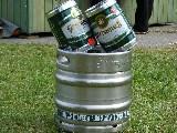 1. Preis 50 l Bier, 2. und 3, Preis 5 Liter Fässl