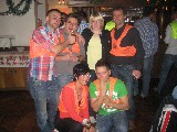 Team Orange mit David, Marcel, Denise, Sven, Josi und Felix