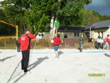 Bau und Einweihung Volleyballplatz
